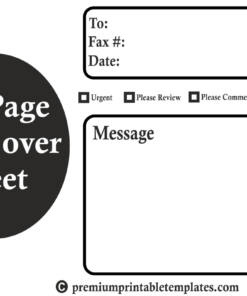 Big page fax cover sheet