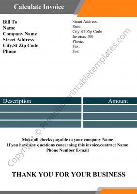 Calculate Invoice