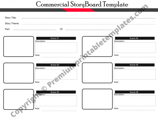 Commercial Storyboard