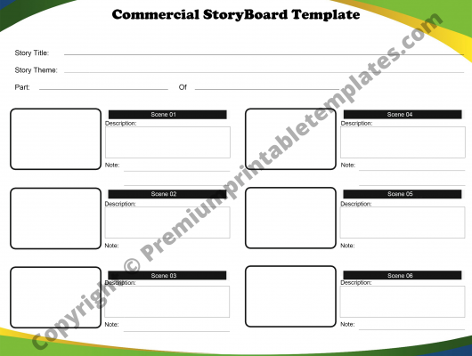 Commercial Storyboard Template