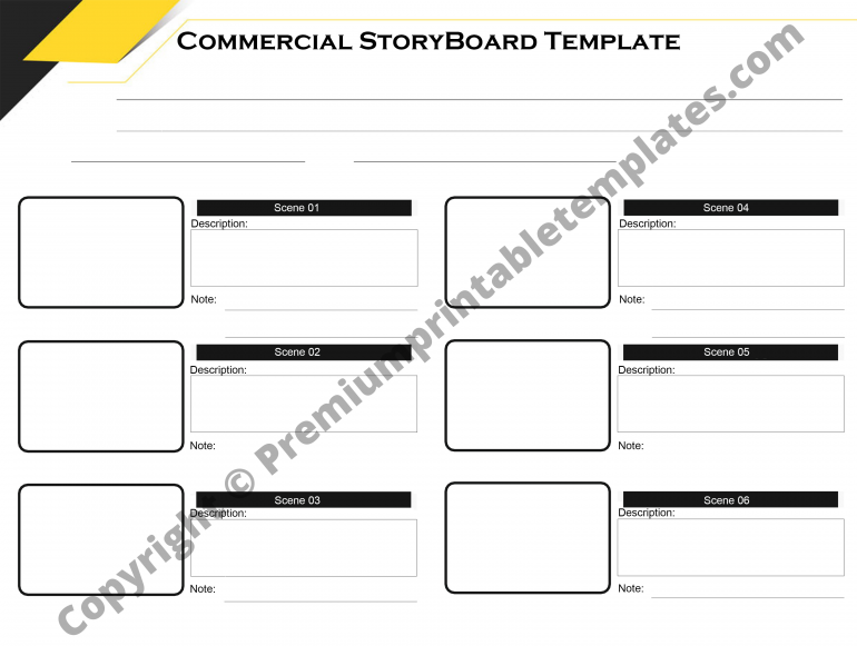 Commercial Storyboard Template PDF