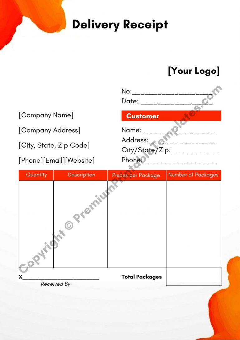 Delivery Receipt PDF