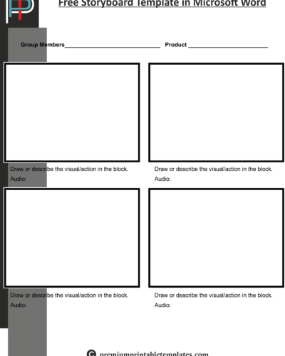 Free Storyboard Template in Microsoft Word