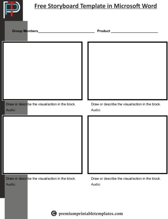 Free Storyboard Template In Microsoft Word Premium Printable Templates
