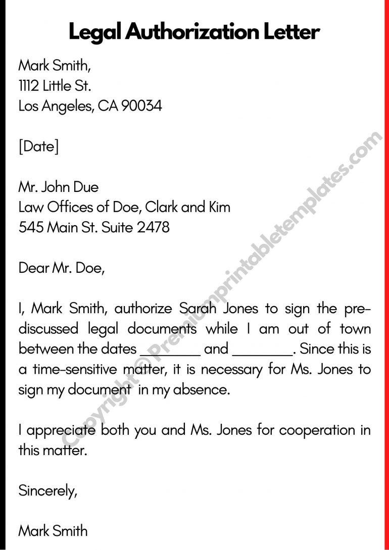 Legal Authorization Letter PDF