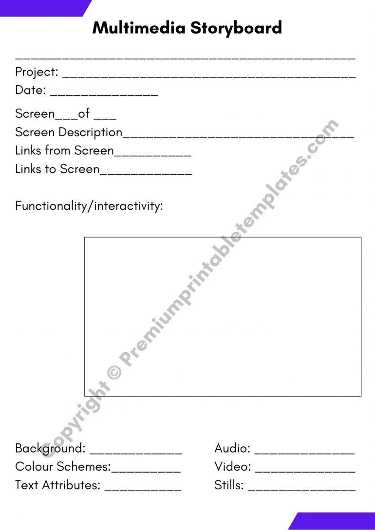 Multimedia Storyboard PDF