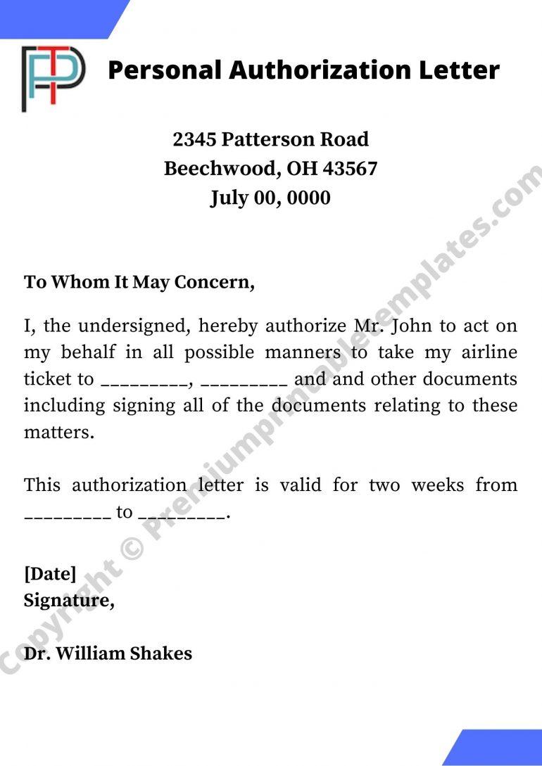 Personal Authorization Letter PDF