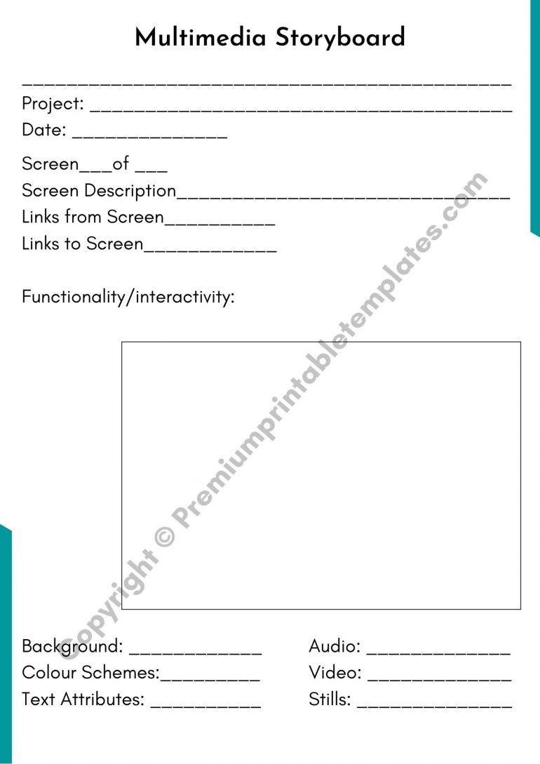 Printable Multimedia Storyboard