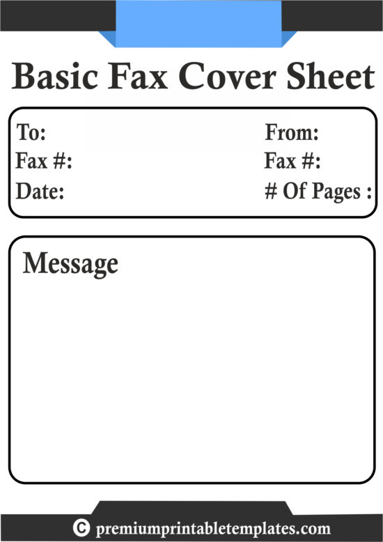basic fax cover sheet