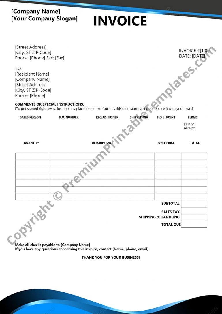 basic invoice pdf template