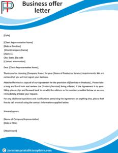 business offer letter