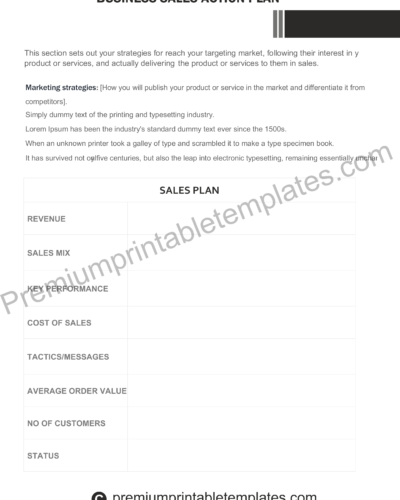 business plan template for dummies