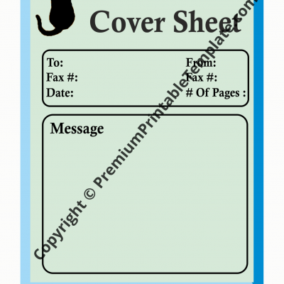 cat fax cover sheet