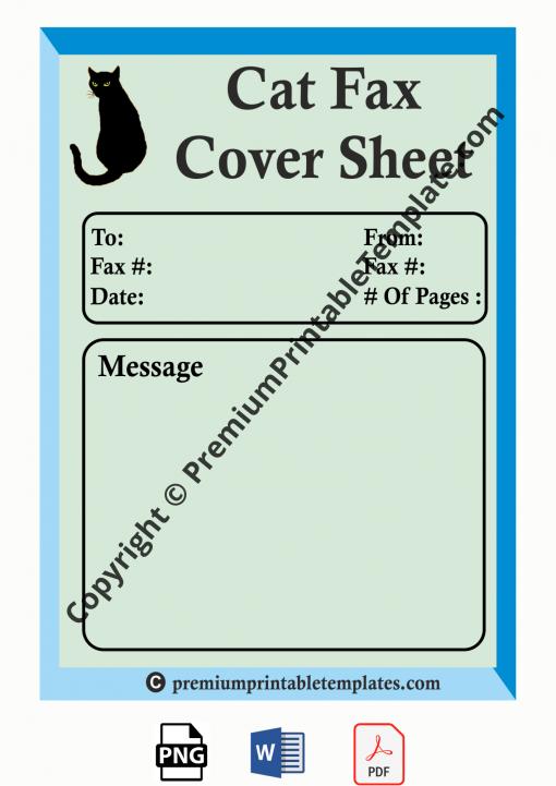 cat fax cover sheet
