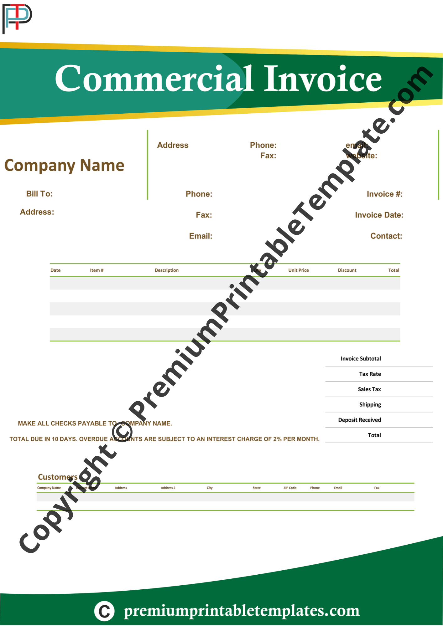 commercial invoice