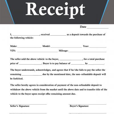deposit receipt