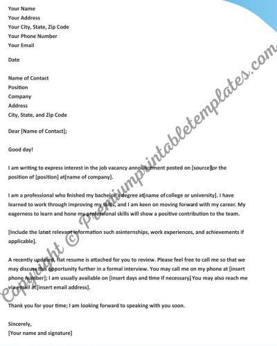 flat resume cover letter