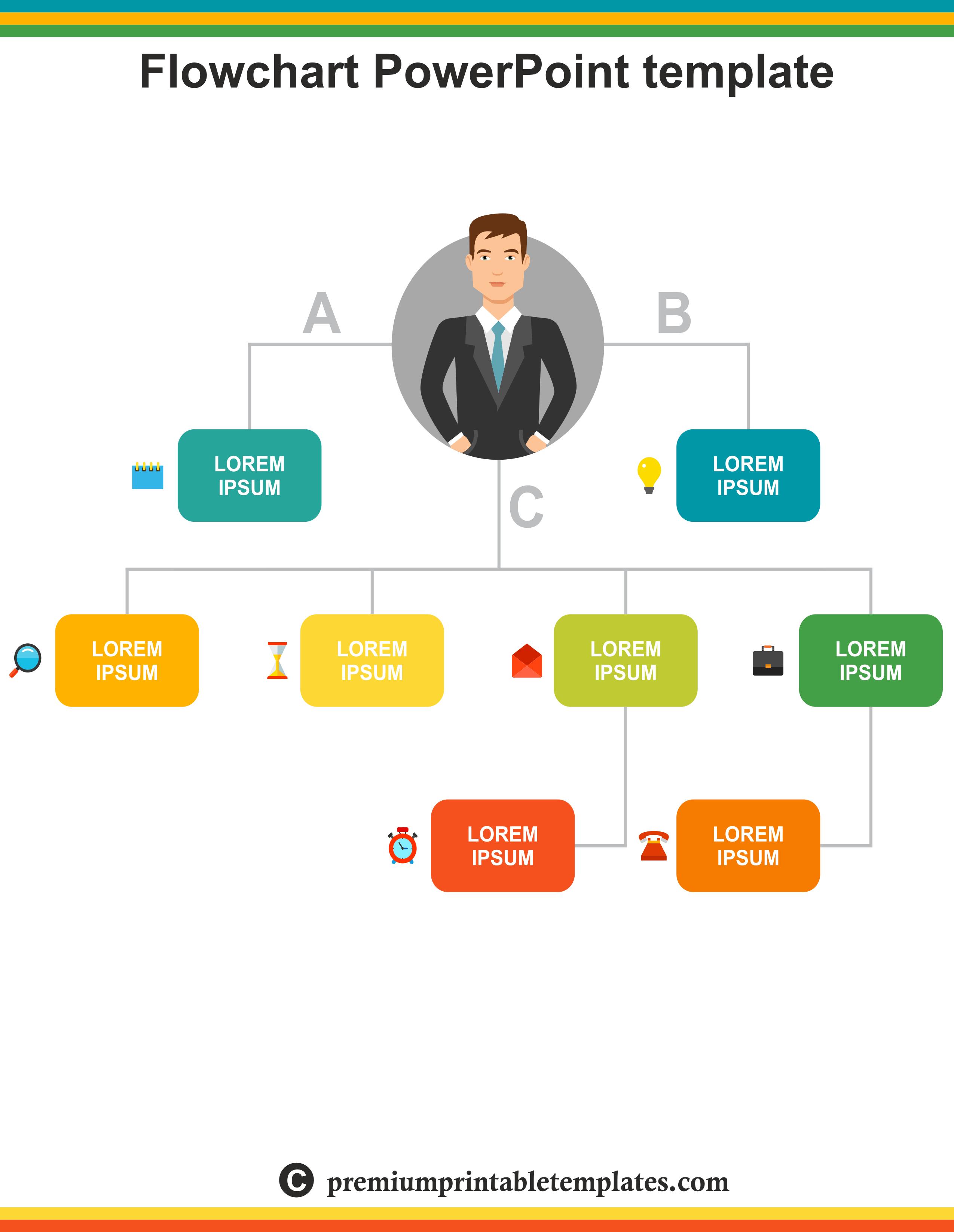 flow chart powerpoint templates – premium printable templates, Flowchart Powerpoint Template, Powerpoint templates