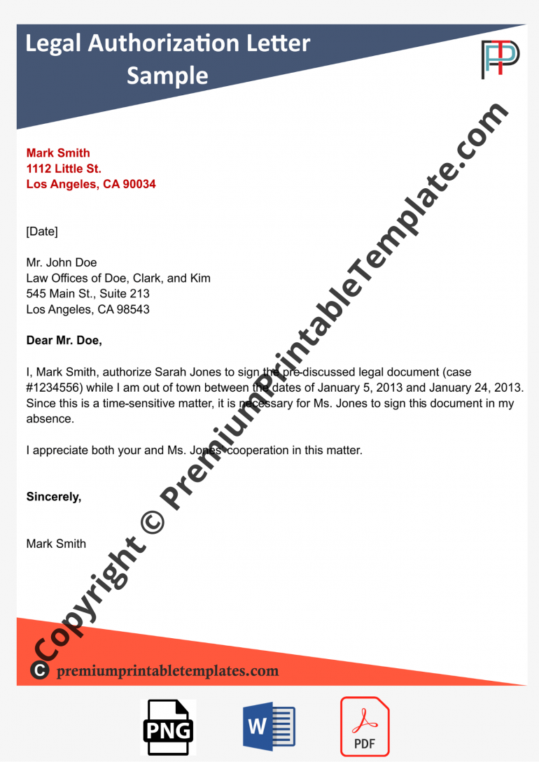 legal authorization letter