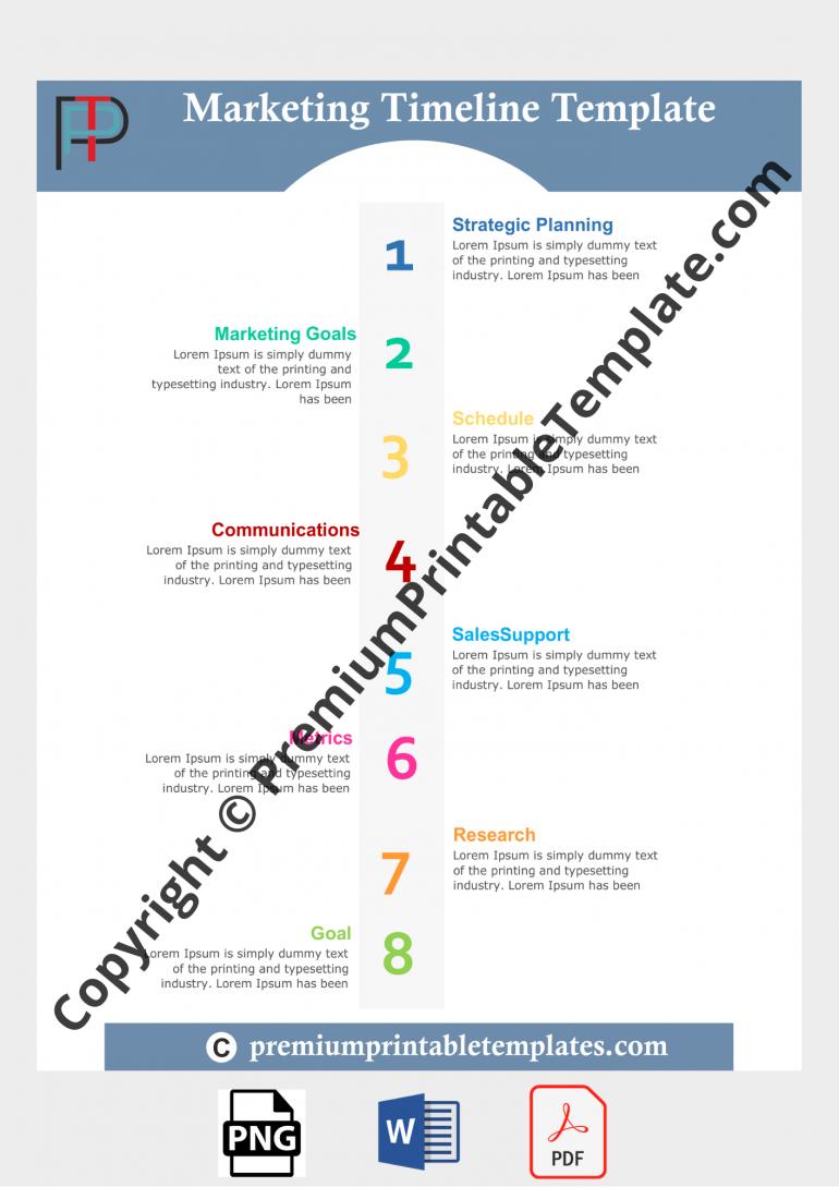marketing timeline template