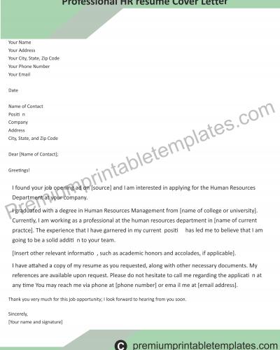HR Professional Resume