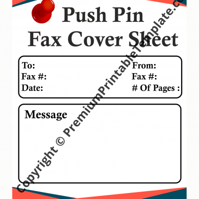 pushpin fax cover sheet