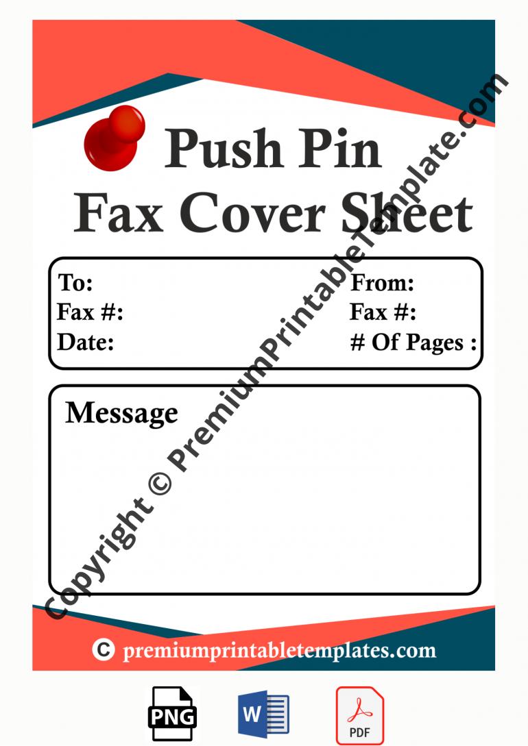 pushpin fax cover sheet