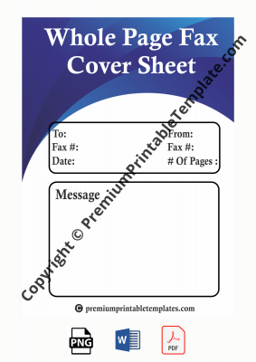 whole page fax cover sheet