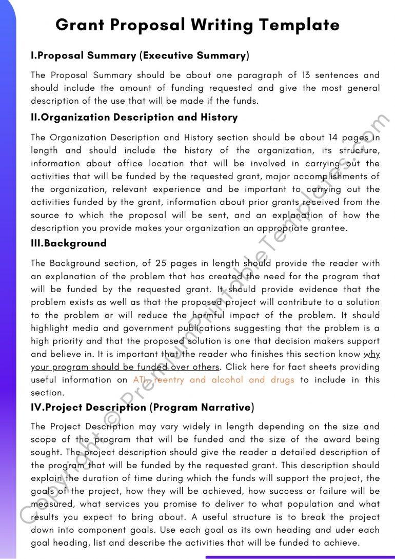 Grant Proposal Writing Template PDF