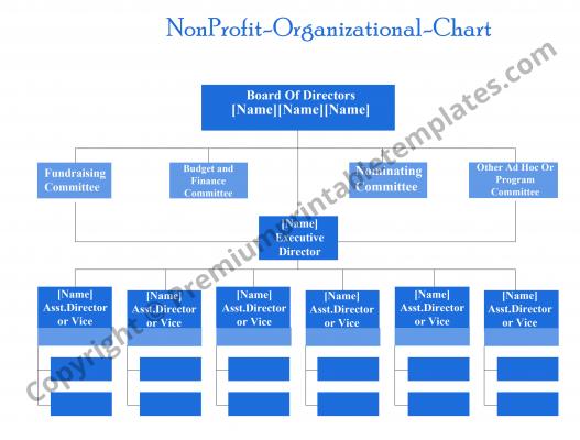 Printable Non Profit Organizational Chart