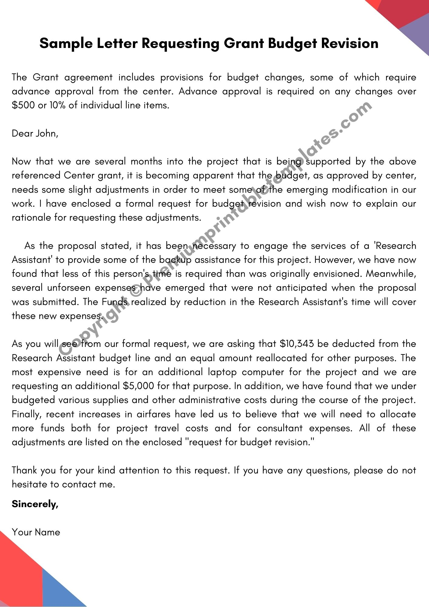 Sample Letter Asking For Help from premiumprintabletemplates.com