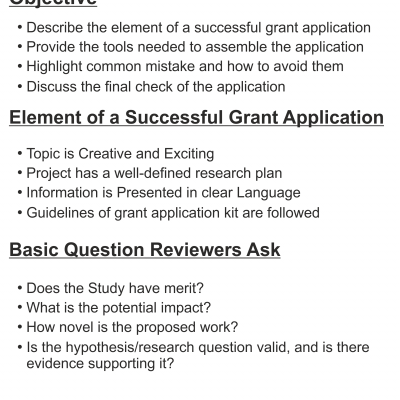 Writing a Successful Grant Application