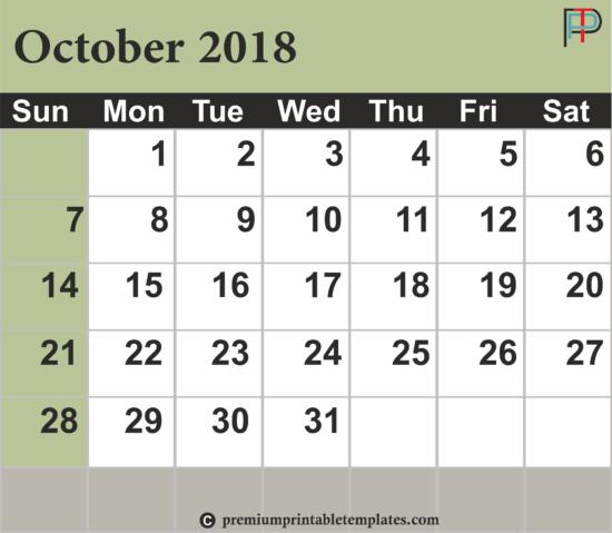 october-2018-calendar