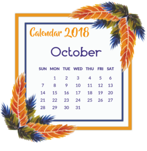 october orange printable theme template