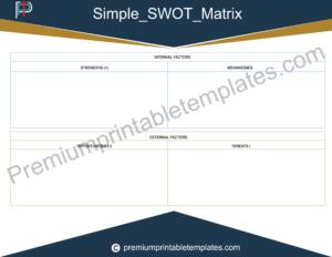 Simple Swot Matrix