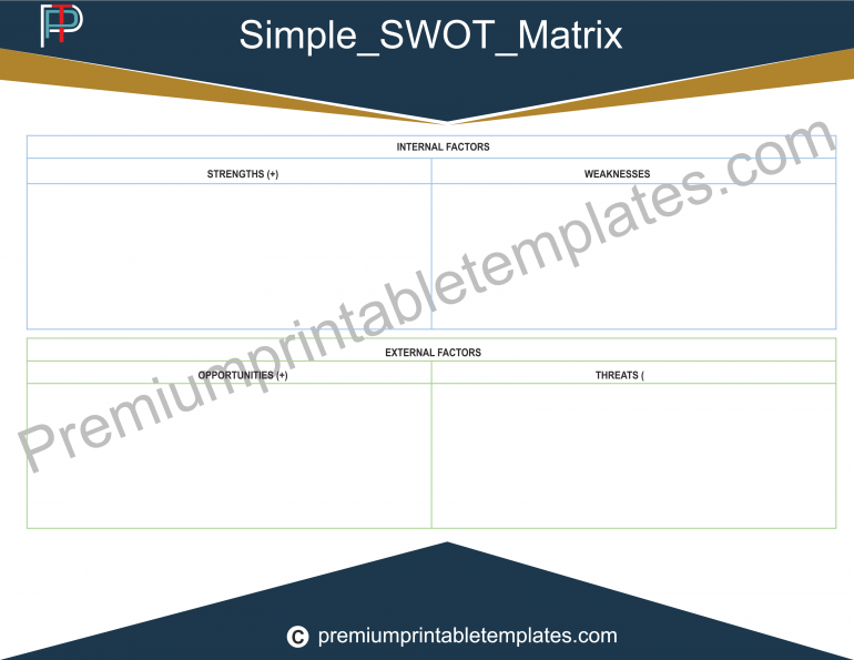 Simple Swot Matrix