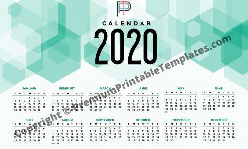 2020 Yearly Printable calendar
