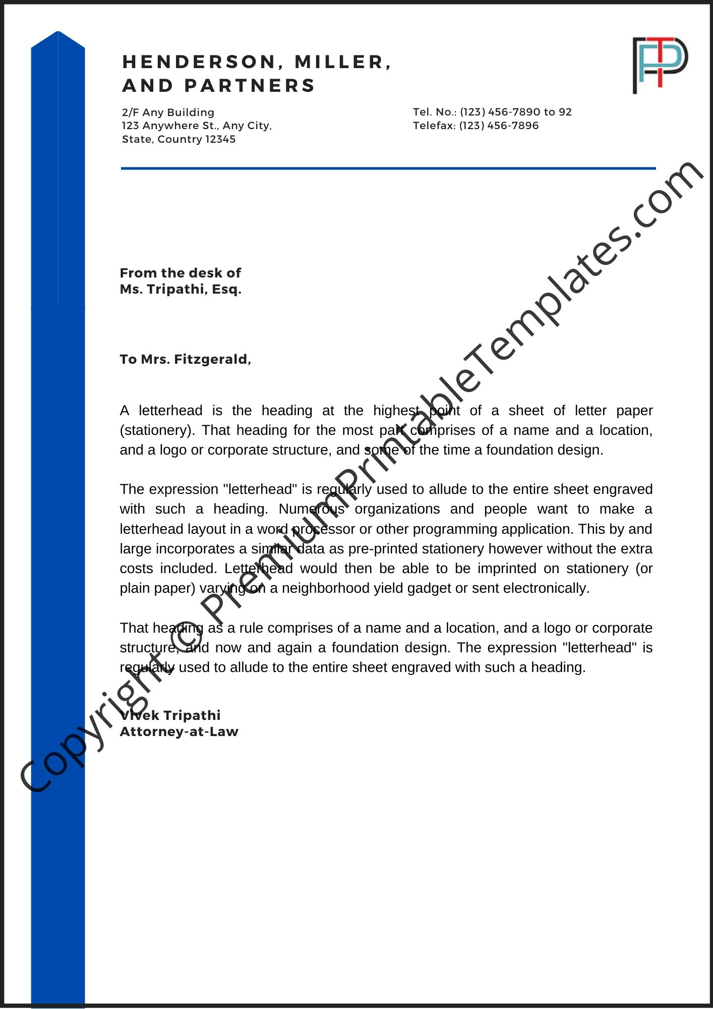 Heading For Business Letter from premiumprintabletemplates.com