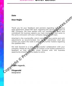 Counteroffer letter