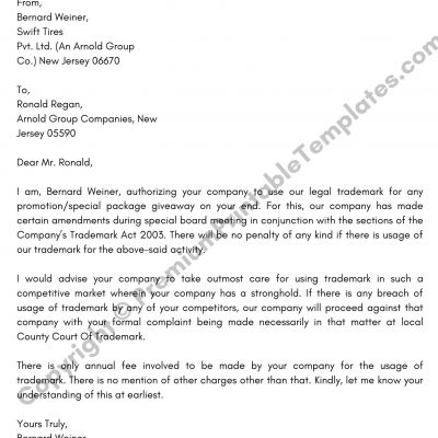 Legal Letter Format PDF