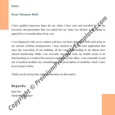 Writing An Appeal Letter For Financial Aid from premiumprintabletemplates.com
