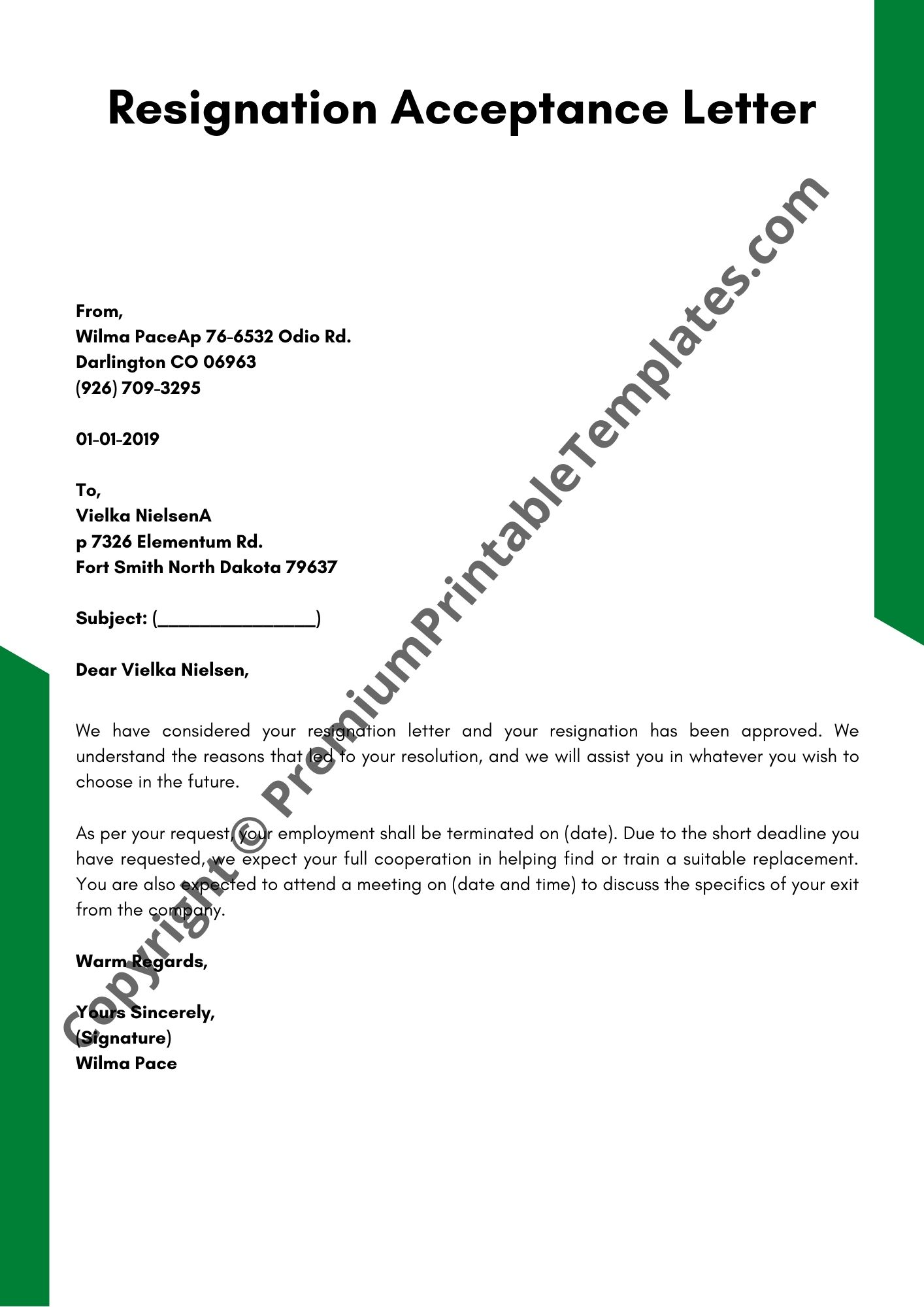 Reply To Resignation Letter from premiumprintabletemplates.com
