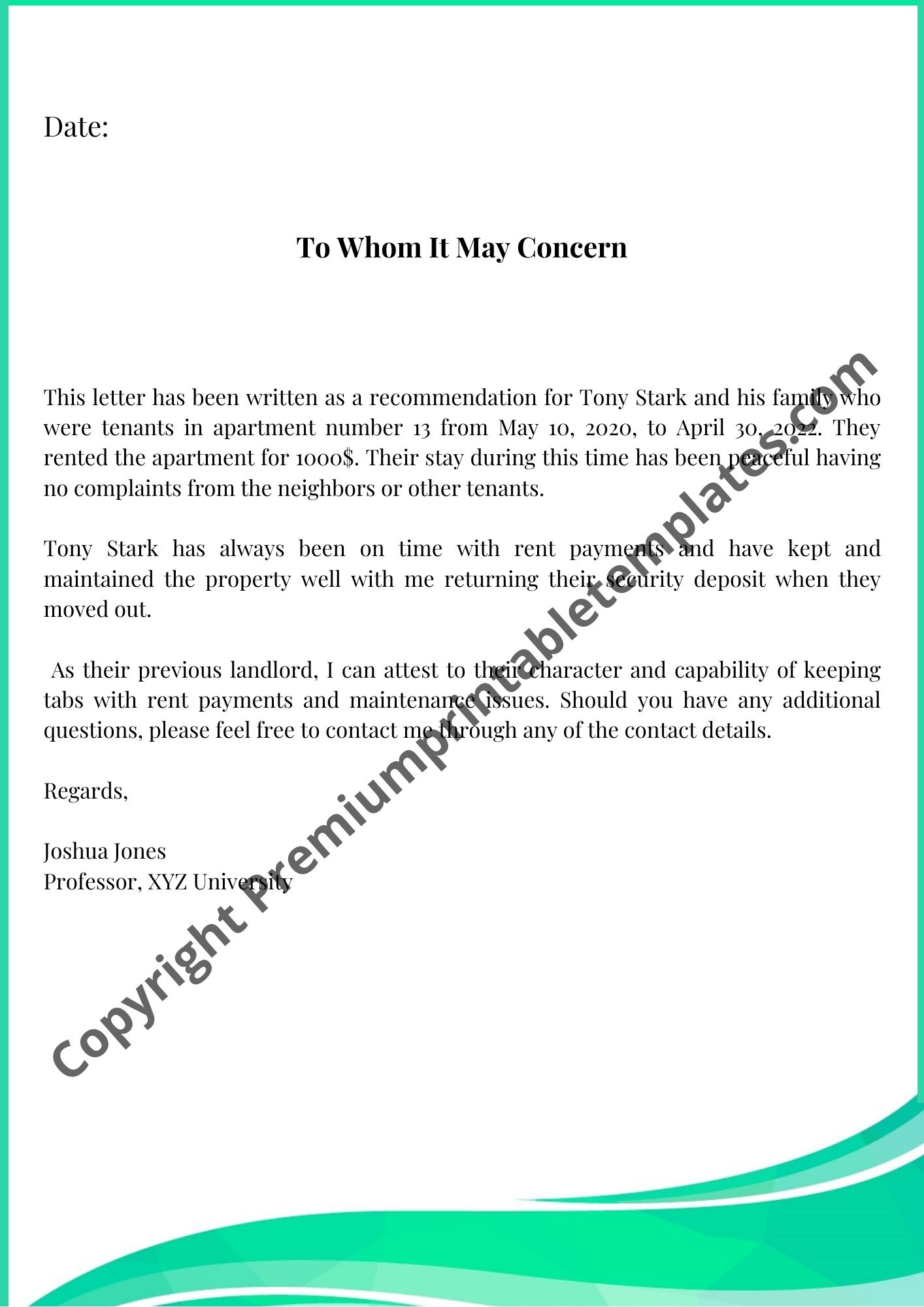 Reference Letter From Landlord from premiumprintabletemplates.com