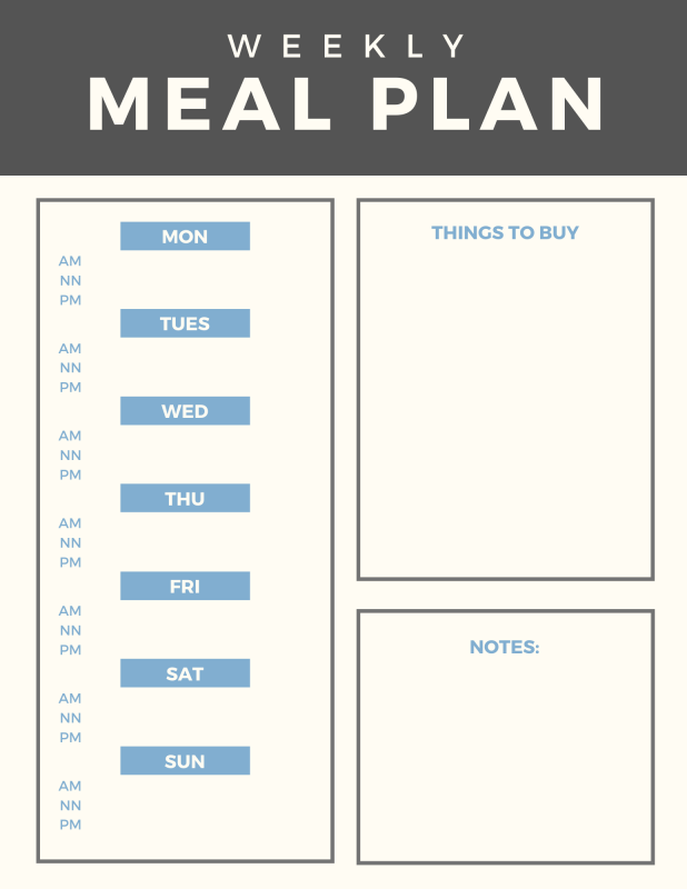 Weekly Meal Planenr