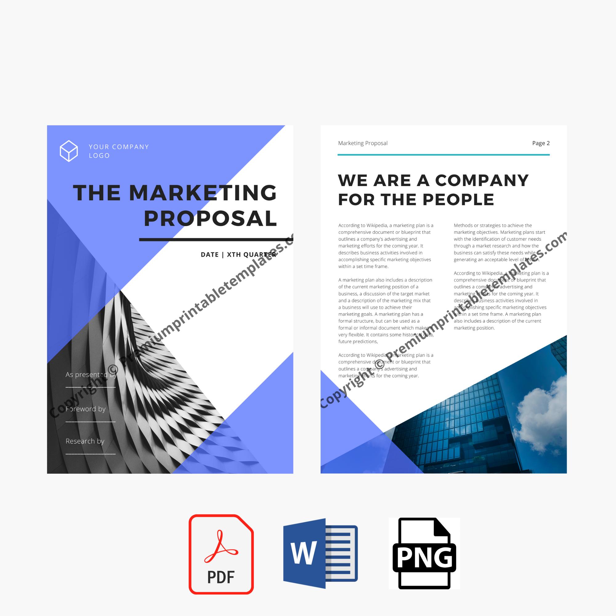 Marketing Proposal Template Proposal Template Premium Printable Templates