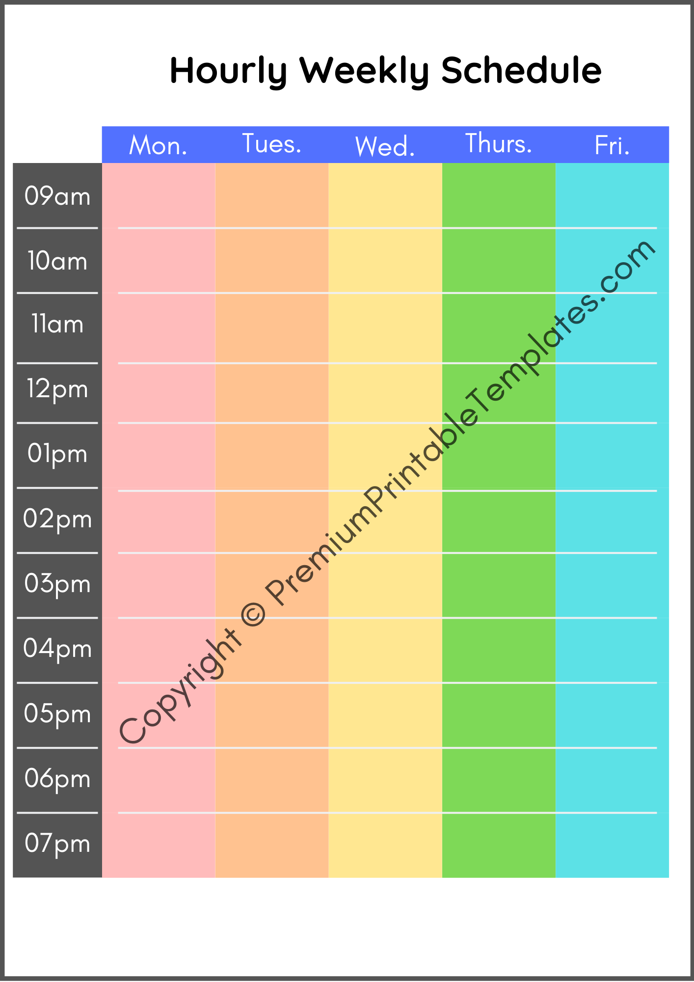 Daily Schedule Template | Editable | PDF | Premium ...