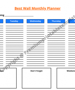 Best Wall Monthly Planner