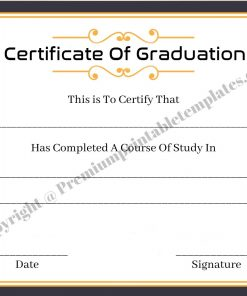 Certificate Of Graduation High School