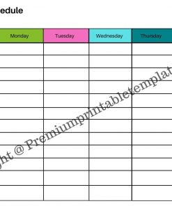 Printable Weekly Schedule Planner
