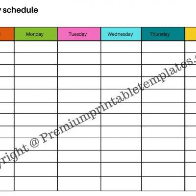 Printable Weekly Schedule Planner